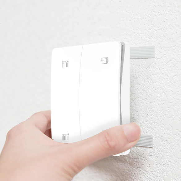 S3 curtain kinetic switch is pasted on the wall