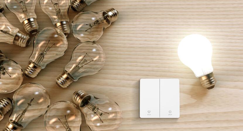 Ebelong self-powered switch controls the light