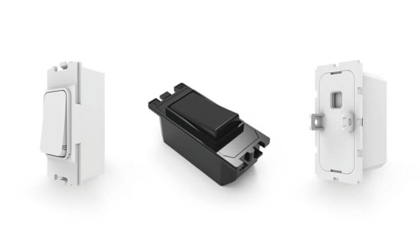 Multi-standard black and white color self-powered grid switch