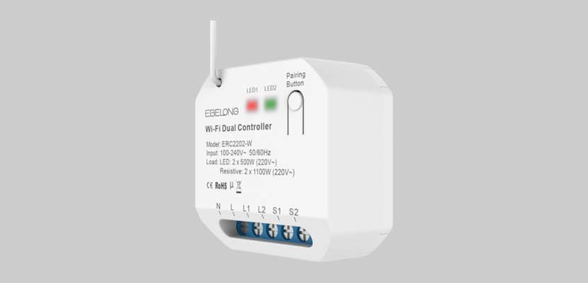 ERC2202-W WiFi dual smart light controller