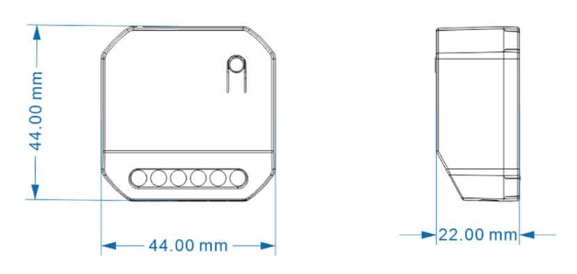 ERC2202 controller dimensions