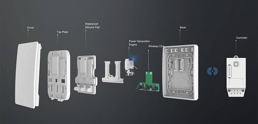 Working principle of self-powered wireless smart switch